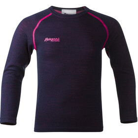 Bergans Akeleie Kids Shirt Navy/Hot Pink